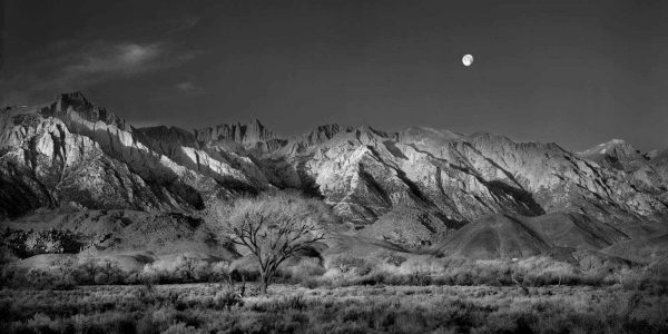 Moon Over Mount Whitney