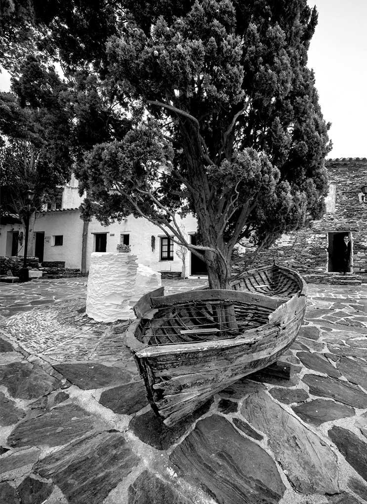 Boat with Cypress Tree Dalis Port Lligat House